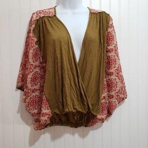 BKE Boutique Boho Style Blouse Size XS/S